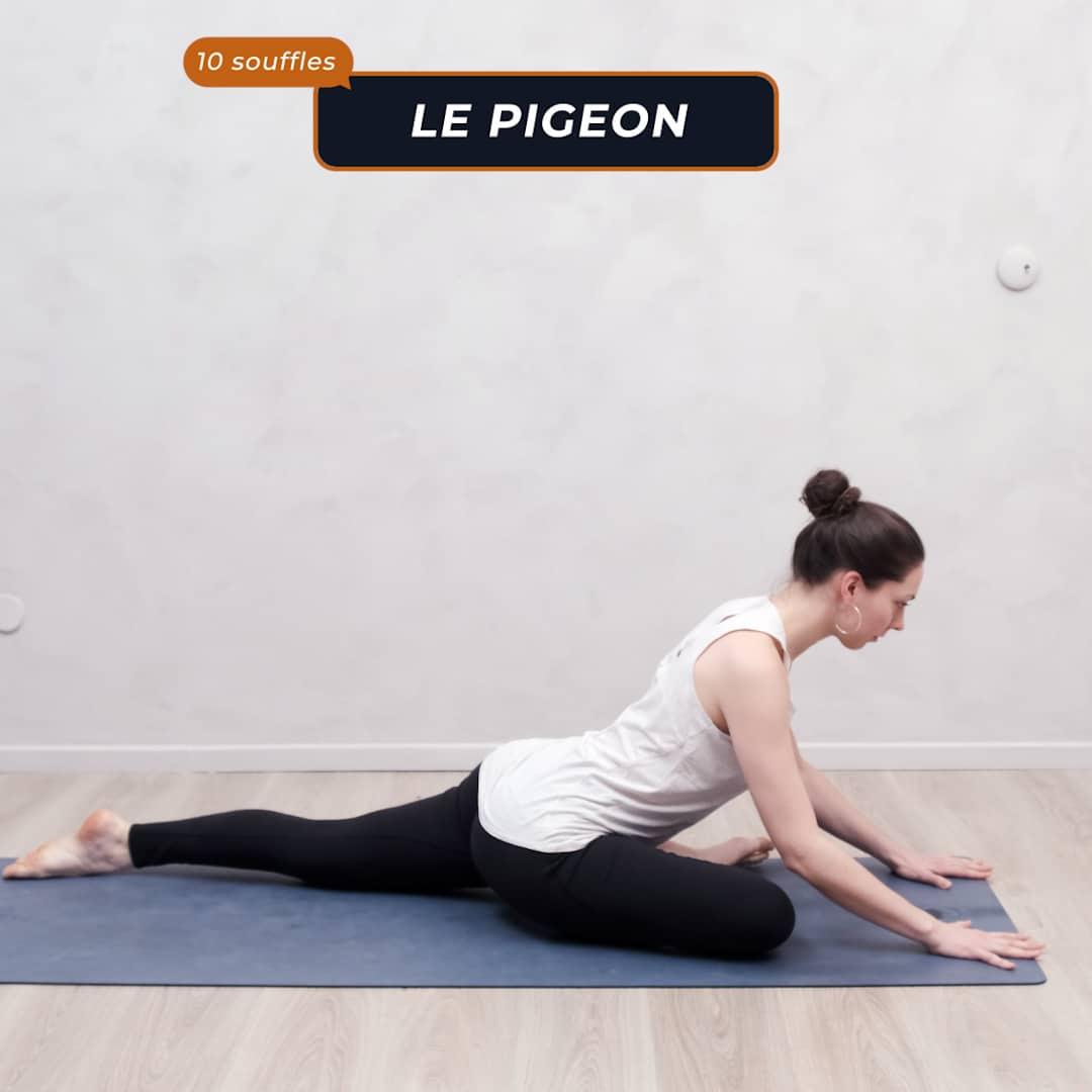 le pigeon prépare les hanches pour évacuer les mauvaises énergies
